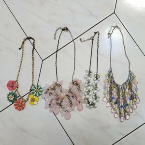 Lot of 4 Accent Necklaces
